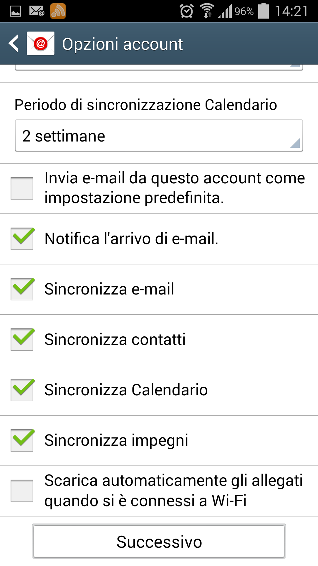 Sincronizzare Calendario Outlook Android.Configurazione Email Professional Per Android Register It