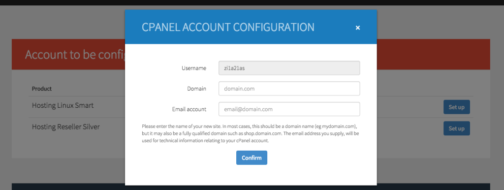 02 first config - domain and email
