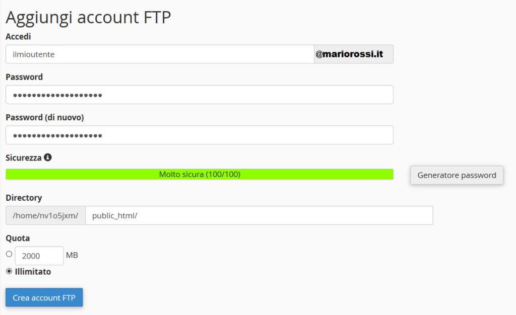 account ftp