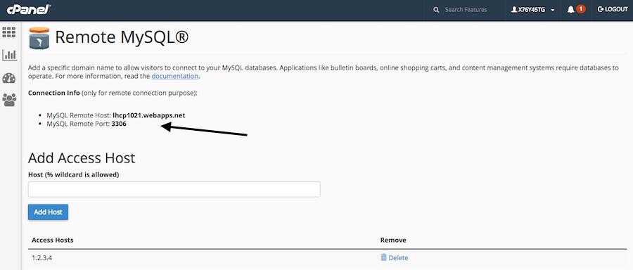 MySQL databases remote access